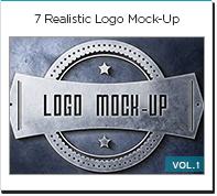 7 realistic logo mock up
